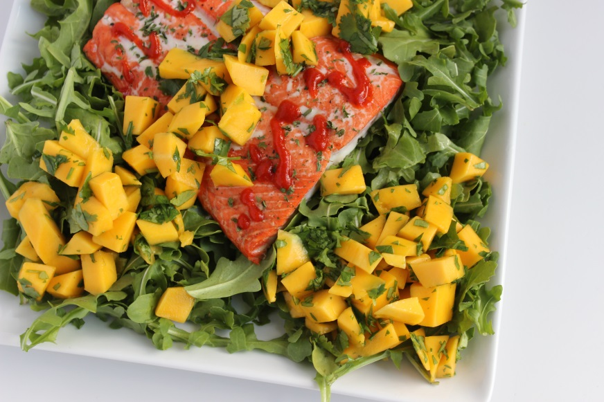salmon with mango lime salsa