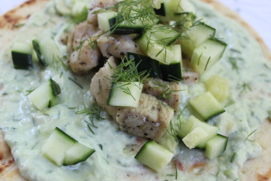 chicken pita avocado tzatziki