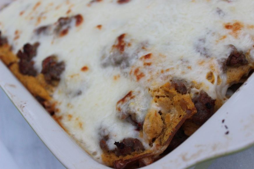 butternut squash lasagna with sausage