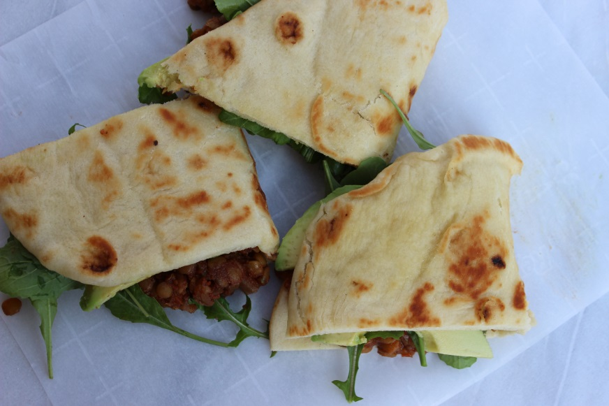 madras lentil naanwiches