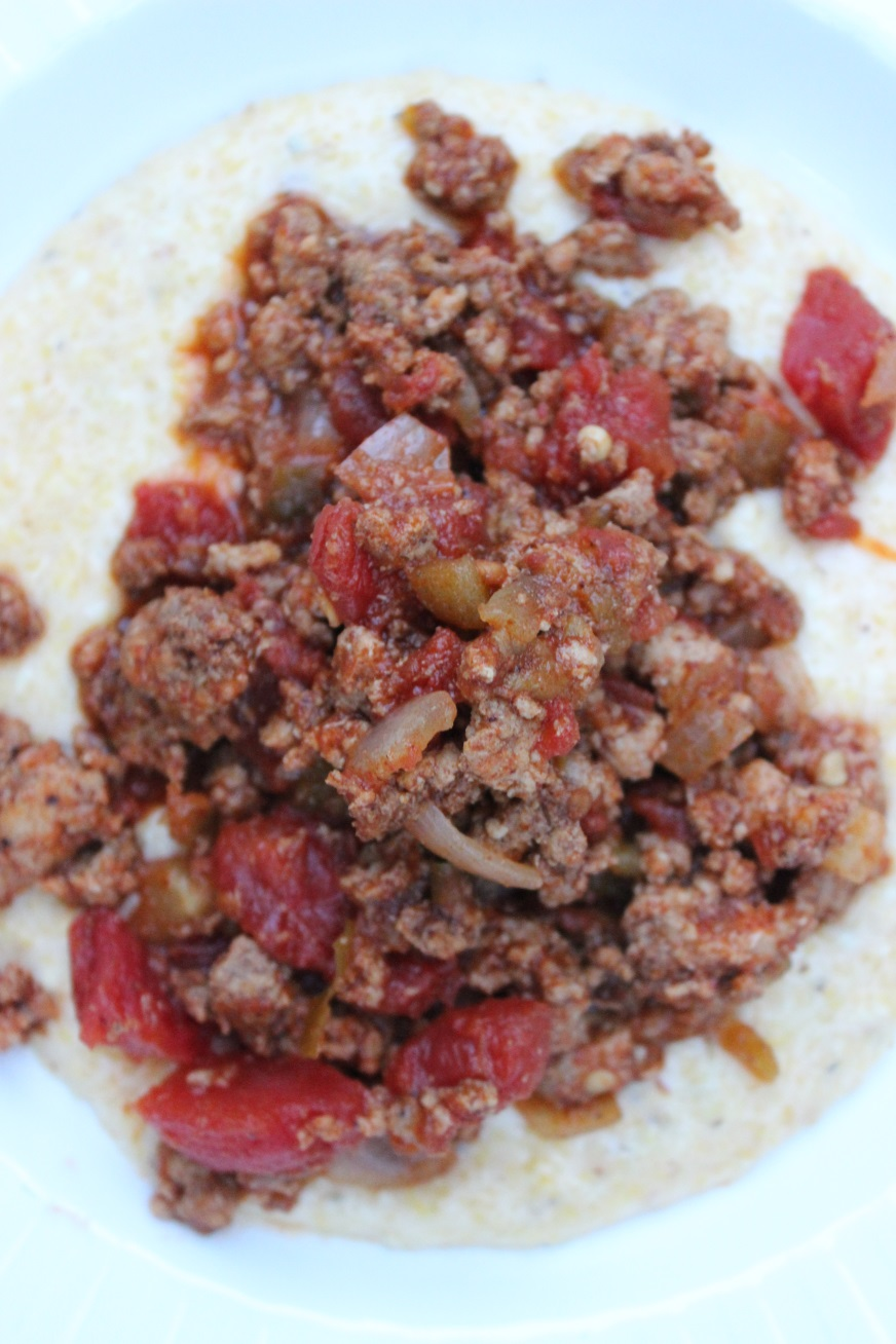 turkey chili cheese grits