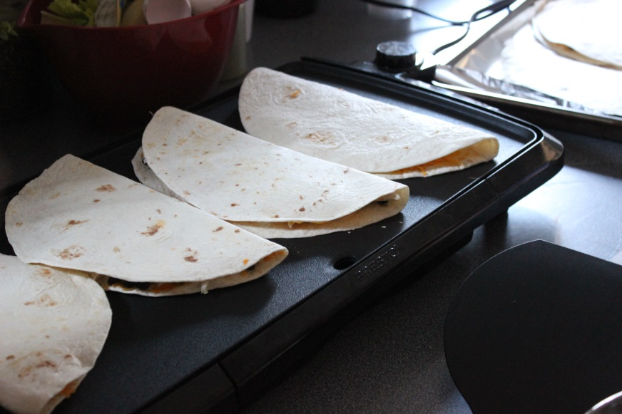 freezer quesadillas
