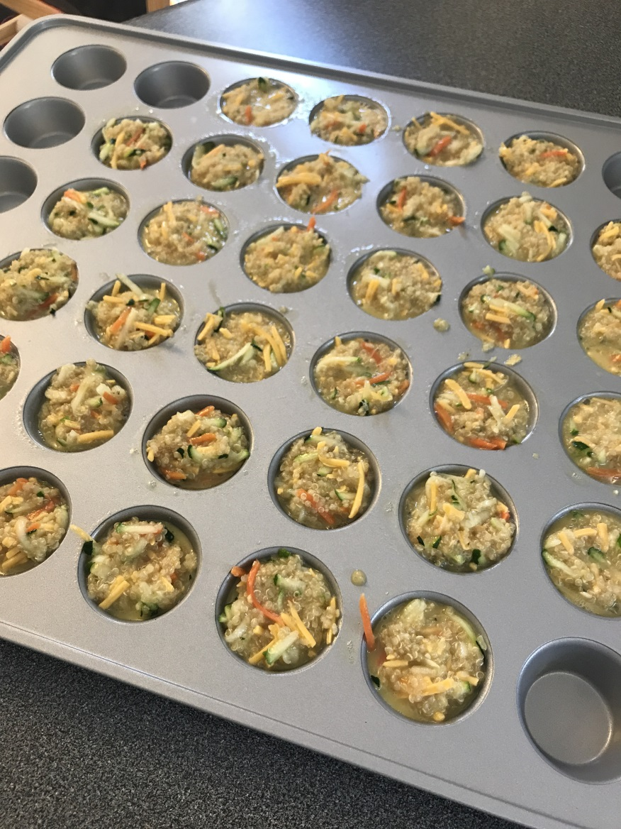 mini quinoa veggie cups